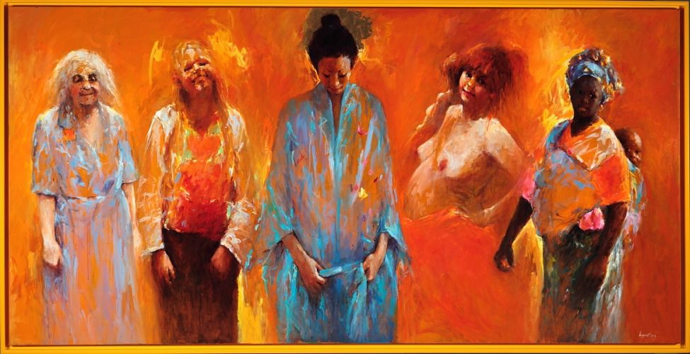 Women II, oil / canvas, 2009, 150 x 300 cm, Sold