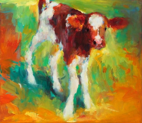 Little calf, oil on canvas, 2009, 30 x 35 cm, Sold