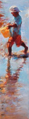 Water carrier, oil, 2009, 120 x 30 cm, Sold