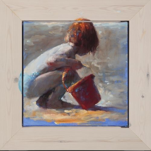 Red bucket, oil, 2009, 40 x 40 cm, Sold