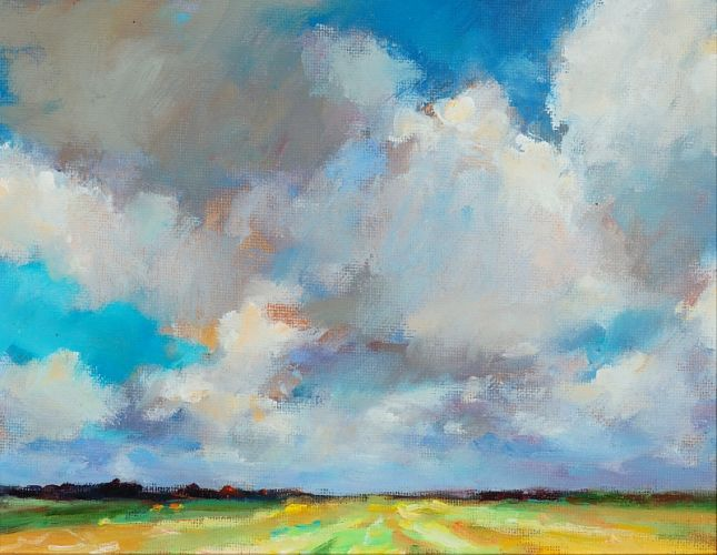 Frisian landscape I, oil on canvas, 2009, 18 x 24 cm, Sold