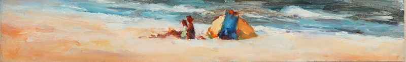 Beach, oil / canvas, 2009, 8 x 50 cm, Sold