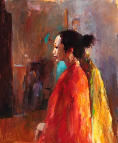 Chinese model II, oil / canvas, 2009, 60 x 50 cm, Sold