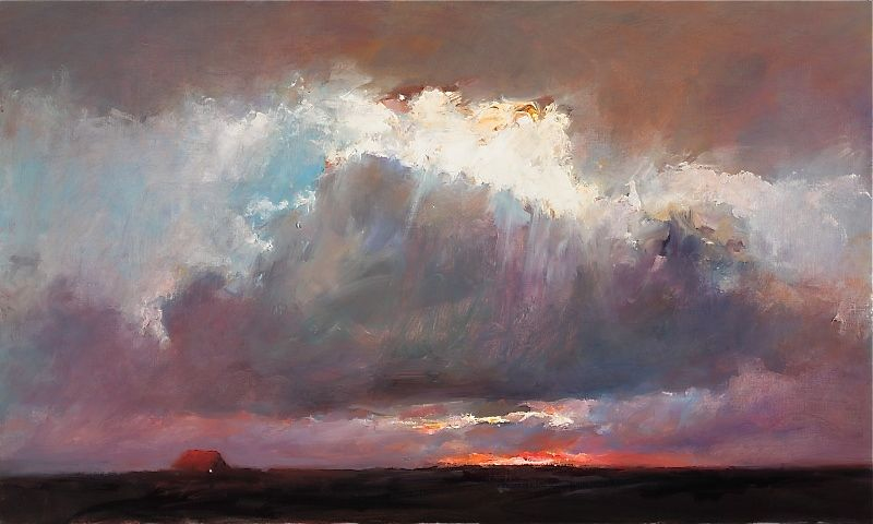 Sunset II, oil / canvas, 2009, 60 x 100 cm, Sold