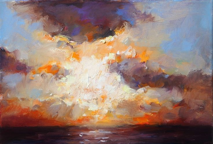 Sunset, oil / canvas, 2010, 22 x 32 cm, Sold