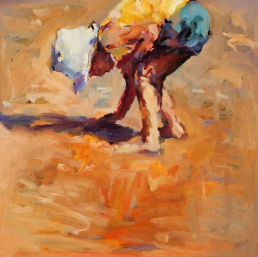 Searching, oil / canvas, 2010, 50 x 50 cm, Sold