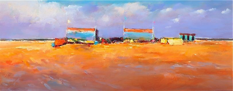 Beachmark 3, oil / canvas, 2010, 25 x 40 cm, Sold