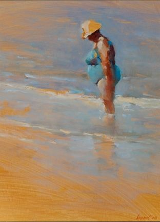 Paddling, oil / canvas, 2010, 39 x 30 cm, Sold