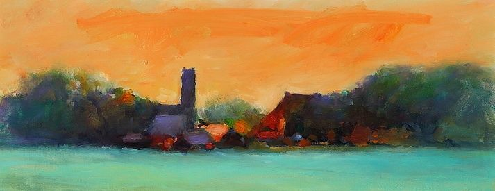 Dearsum II, oil / canvas, 2010, 17 x 40 cm, Sold