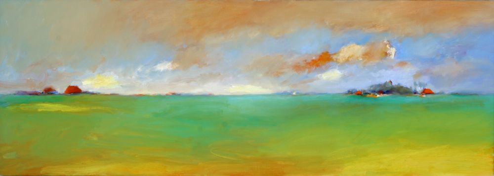 Allingawier, Oil / canvas, 2004, 50 x 140 cm, Sold