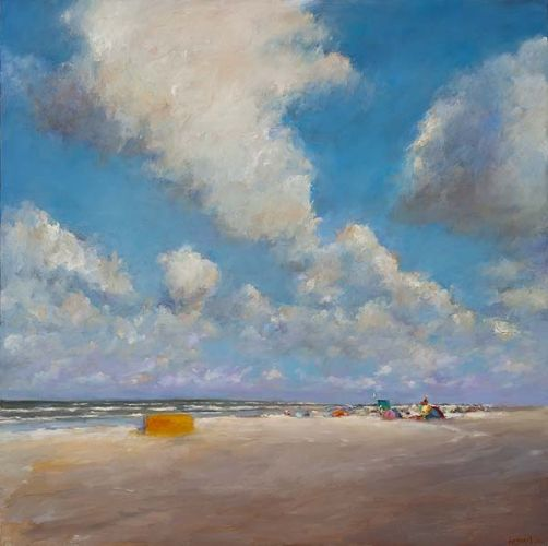 Beachmark 5, oil / canvas, 2011, 100 x 100 cm, Sold