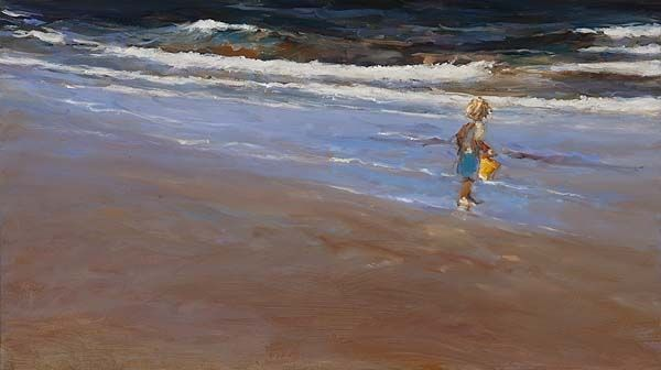 yellow bucket II, oil / canvas, 2011, 40 x 70 cm, Option