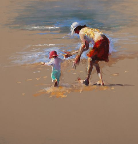 Learn to walk, pastel, 2011, 100 x 104 cm, Sold