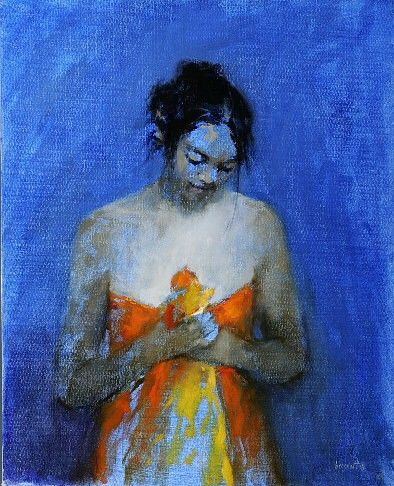 Devotion, Oil / canvas, 2004, 50 x 40 cm, Sold