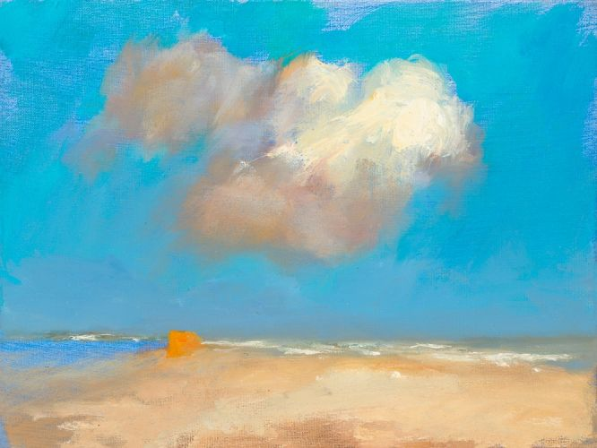 Beach, canvas, 2005, 18 x 24 cm, Sold