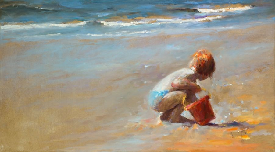 Red bucket II, oil on canvas, 2009, 50 x 90 cm, Sold