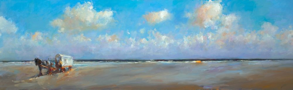 At beachmark 4, oil, 2009, 60 x 200 cm, Sold