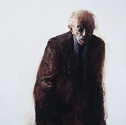 Silent man IV, Oil / canvas, 1998, 100 x 100 cm, Sold