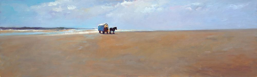 Beach, oil / canvas, 2009, 40 x 130 cm, Sold