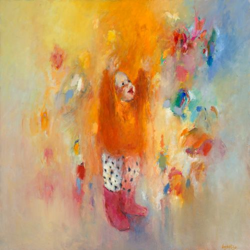 Butterfly child, Oil / canvas, 1998, 100 x 100 cm cm, Sold