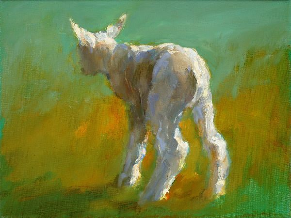 Little lamb, Oil / canvas, 2005, 18 x 24 cm, Sold