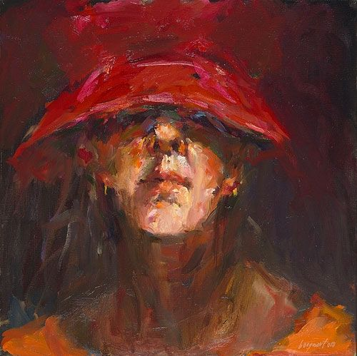 Self-portrait, oil / canvas, 2010, 40 x 40 cm, Sold