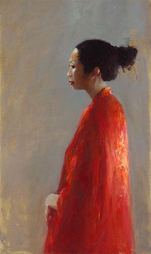 Chinese model, oil / canvas, 2009, 100 x 60 cm, € 4.500,-