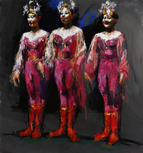 Chinese circus, Pastel, 2005, 104 x 95 cm, Sold