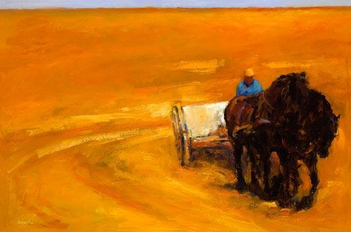 Haymaking month, Oil / canvas, 2004, 80 x 120 cm, Sold