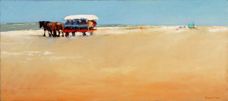 Beach cart, Oil / canvas, 2005, 45 x 100 cm, Sold