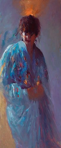 Model with lampion, oil / canvas, 2011, 120 x 50 cm, € 6.100,-