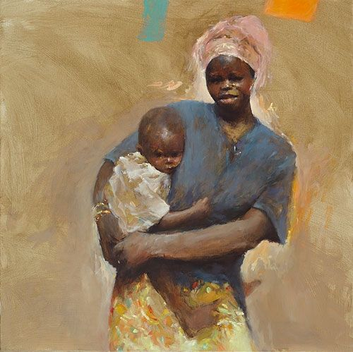 Senegal II, oil / canvas, 2011, 100 x 100 cm, Sold