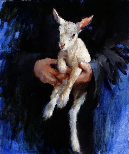 The Lamb, Oil / canvas, 2005, 60 x 50 cm, Sold