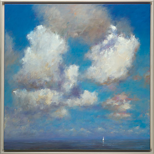 Sky, oil / canvas, 2014, 150 x 150 cm, Sold