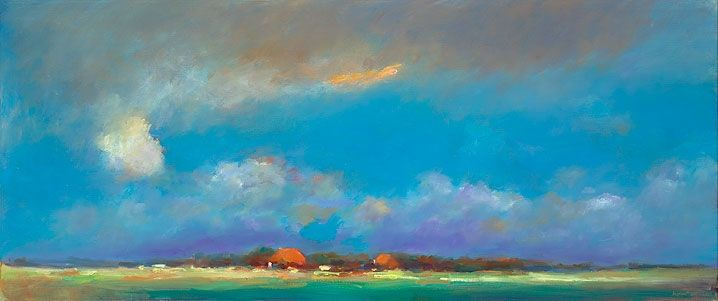 Summerscape near Boazum, oil / canvas, 2011, 50 x 120 cm, Sold