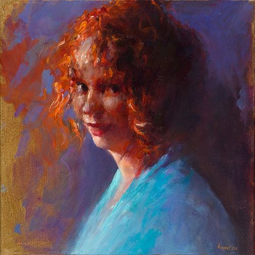 Red-haired, oil / canvas, 2011, 40 x 40 cm, Option