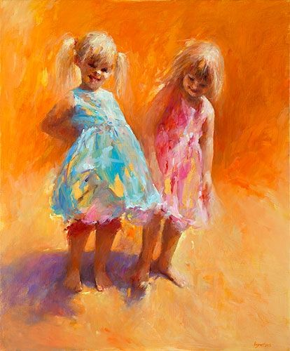 Sun girls, oil / canvas, 2012, 120 x 100 cm, Sold