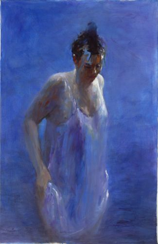 Model in blue, oil / canvas, 2012, 115 x 75 cm, € 6.500,-