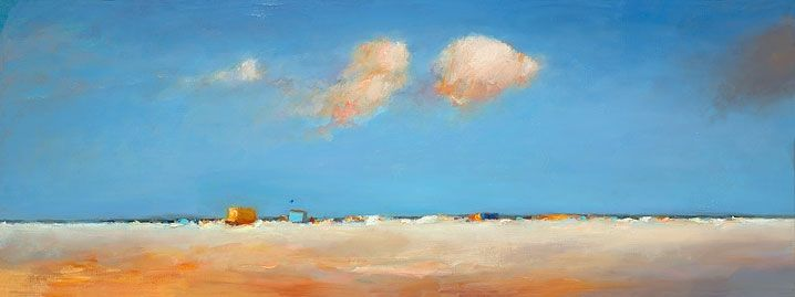 Beachmark 7, oil / canvas, 2012, 30 x 80 cm, Sold