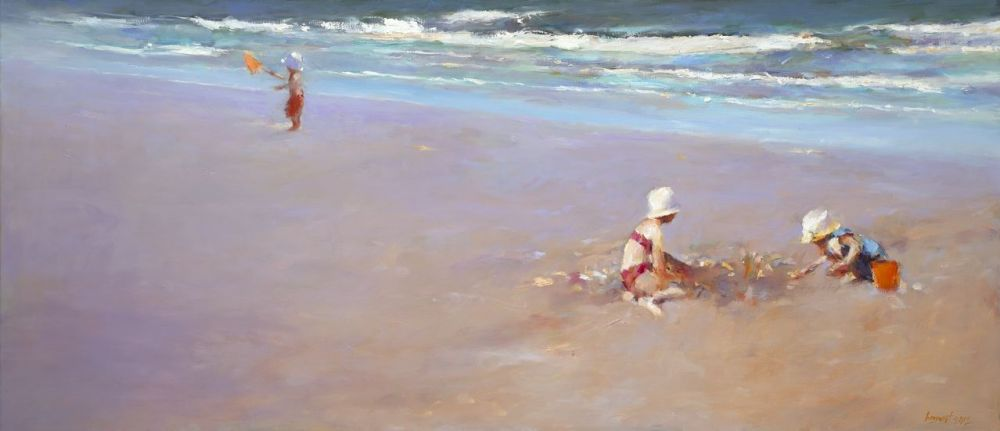 Seachildren, oil / canvas, 2012, 70 x 160 cm, Sold