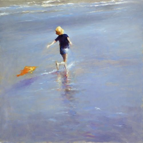 Dancing near the sea, oil / canvas, 2012, 100 x 100 cm, Sold
