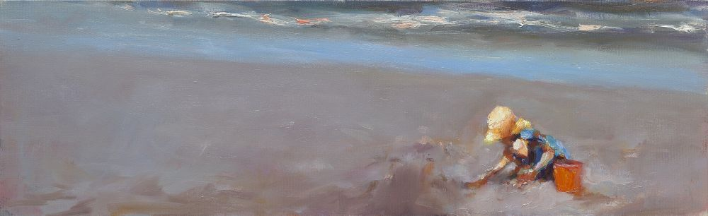 Yellow hat, oil / canvas, 2012, 19 x 60 cm, Sold