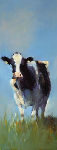 Cow, oil / canvas, 2014, 80 x 30 cm, Sold