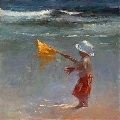 Yellow flag, oil / canvas, 2014, 100 x 100 cm, Sold