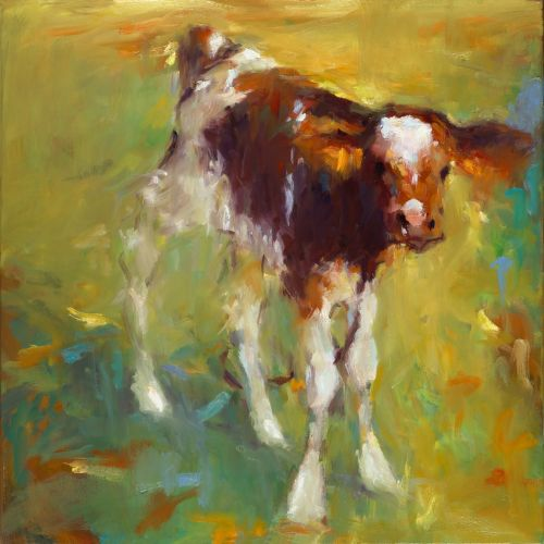 Calf, oil / canvas, 2014, 50 x 50 cm, Sold