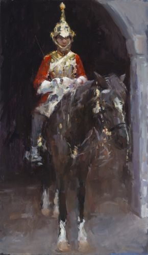 The Guard, oil / canvas, 2012, 120 x 70 cm, Sold