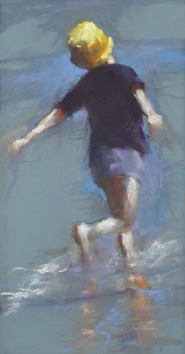 Dancing near the sea, pastel, 2012, 62 x 34 cm, Sold