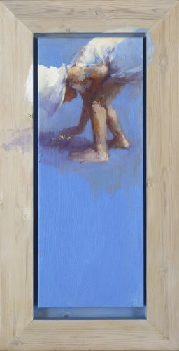Golddigger, oil / canvas, 2012, 50 x 20 cm, € 2.900,-