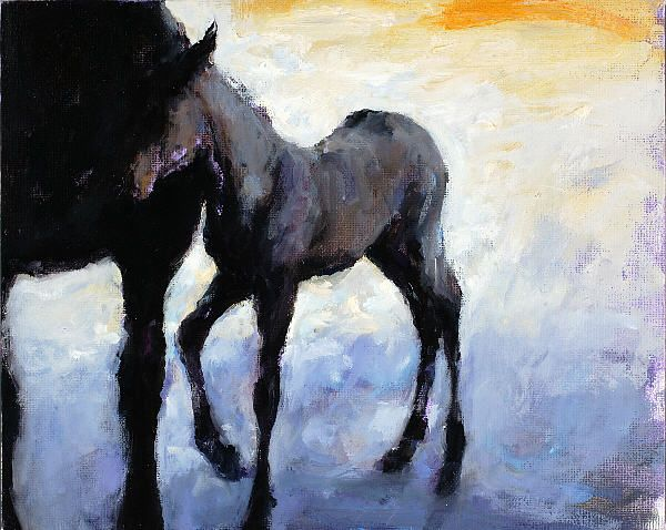 Filly, Oil / canvas, 2005, 24 x 30 cm, Sold