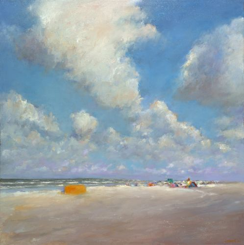 Beach near beachmark 5, oil / canvas, 2012, 100 x 100 cm, € 6.900,-